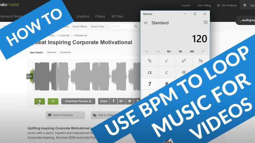 loop music for video bpm tempo